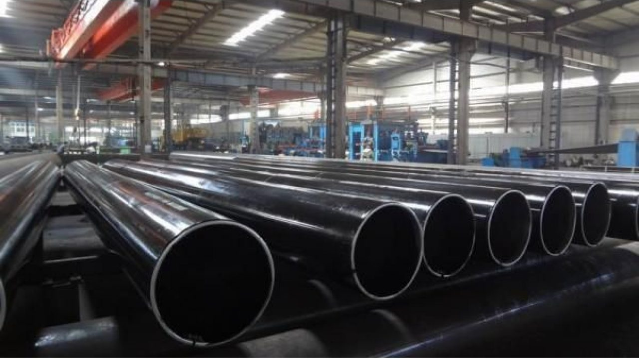 adto welded steel pipe in the factory