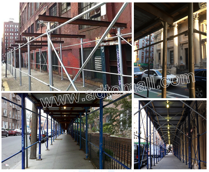 American Scaffolding Sidewalk Sheds System appliactions