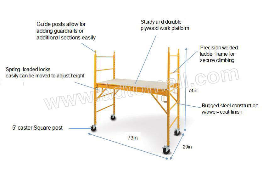 American frame product image 6' multi-function scaffold