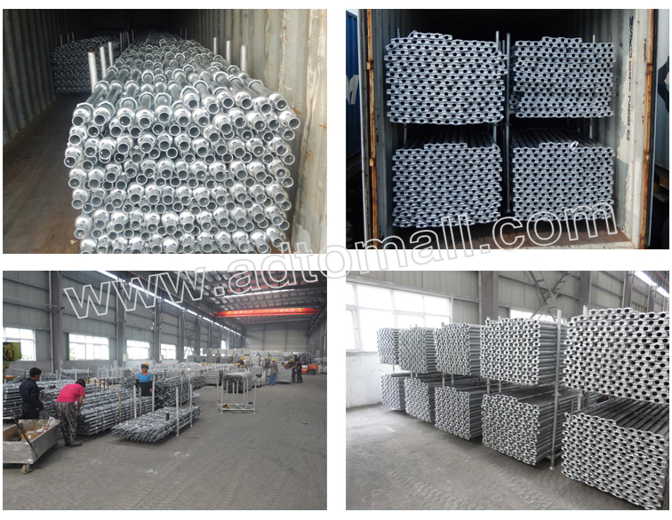Hot dipped galvanized cuplock scaffolding packaging shipping