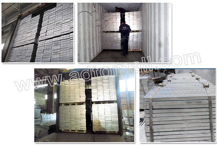 steel plank packaging and shipping