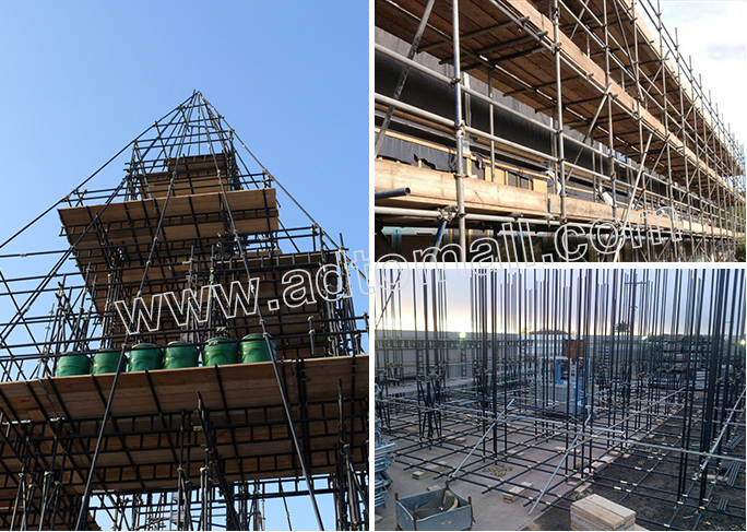 black scaffolding tube applications