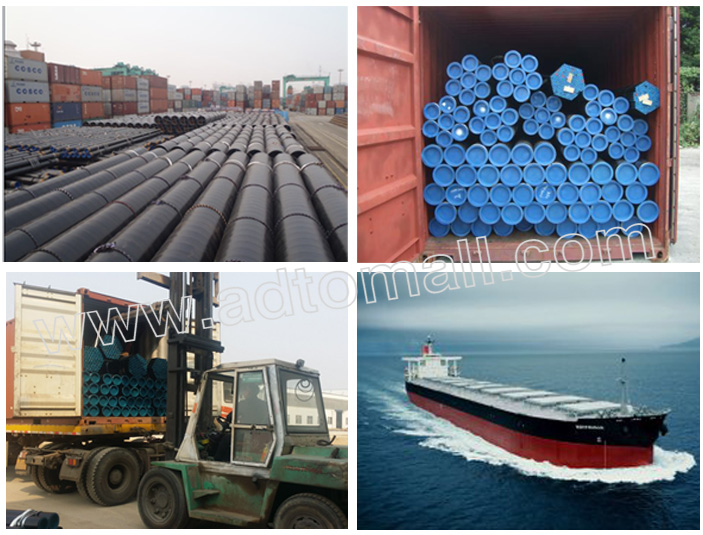 seamless steel boiler tube packaging and shipping