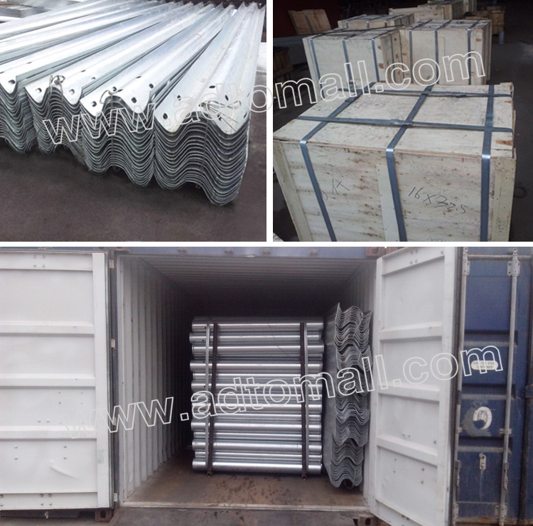 highway guardrail packaging and shipping