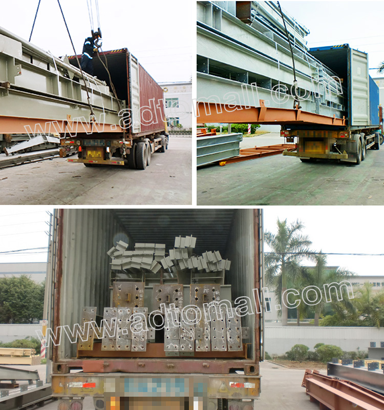 steel structure packaging and shipping