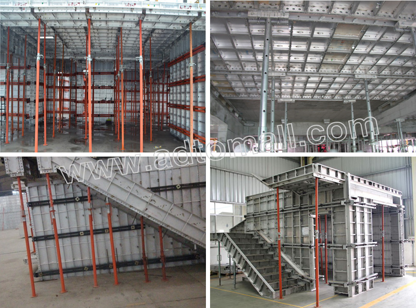 Aluminium formwork accessories props application