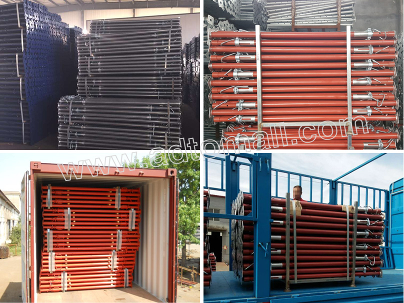 Aluminium Formwork accessories props packaging and shipping
