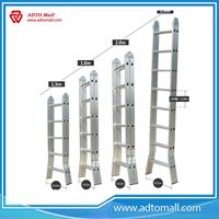 Picture of Double Side Aluminum Ladder with Hinge
