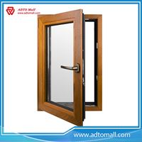 Picture of Wooden Grain Finish Double Glazed Alum Casement Window