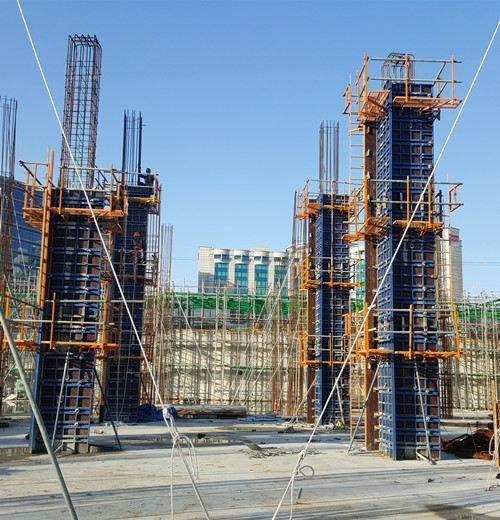 Adjustable Column Formwork, POSCO Haven Hotel & Resort, Incheon, South Korea.